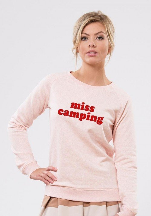 Miss camping Rose Sweat Femme