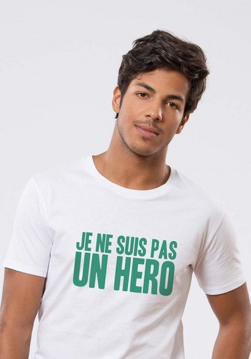 Pas hero T-shirt Homme Col Rond