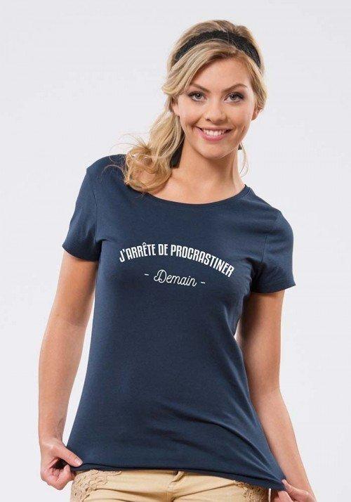 J'arrête de procrastiner T-shirt Femme