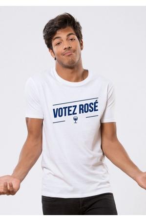 VOTEZ ROSÉ T-shirt Homme blanc