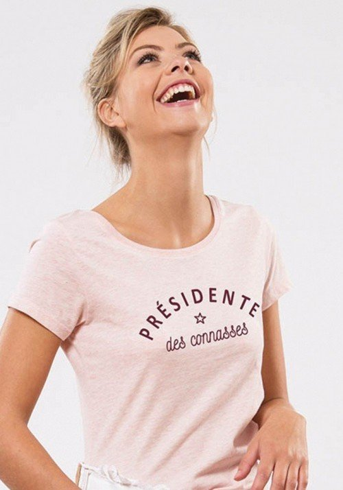 Bichette Rose T-shirt Femme