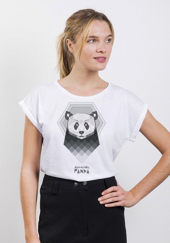 Capitaine Panda T-Shirt Femme Col Rond