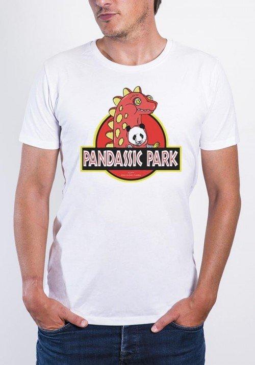 Panda Pandassic Park T-shirt Homme Col Rond