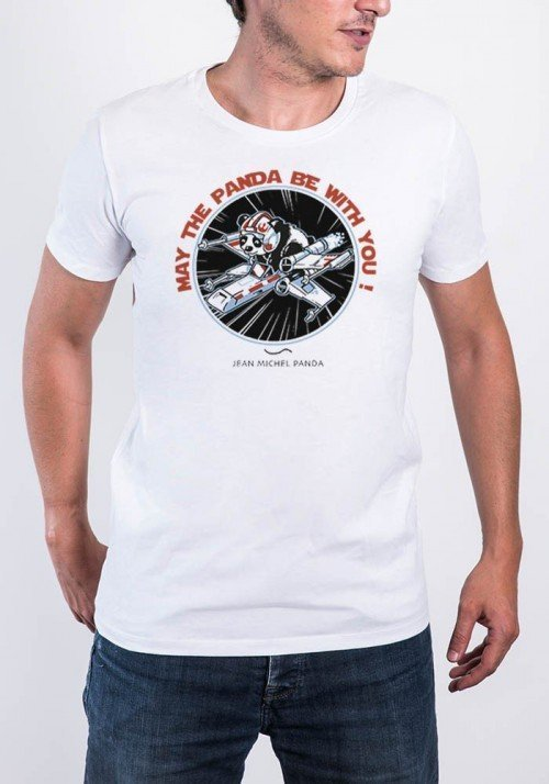 May the panda be with you T-shirt Homme Col Rond
