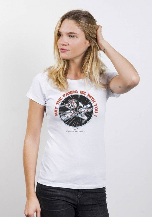 May the panda be with you T-Shirt Femme Col Rond