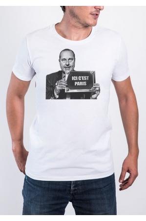 Ici c'est Paris T-shirt Homme Col Rond