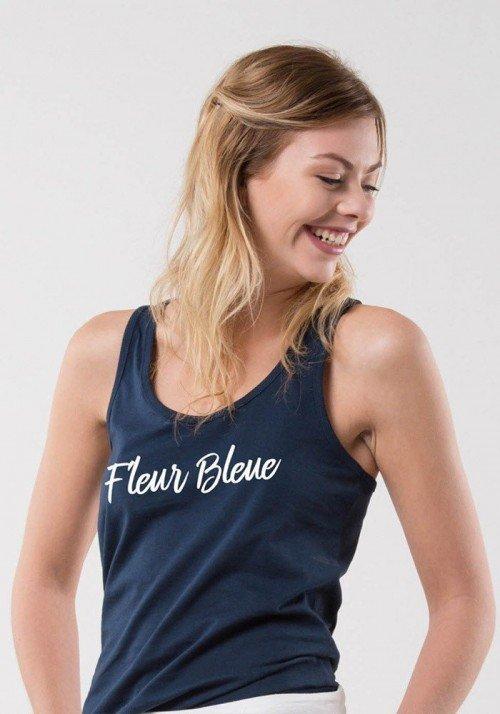 Fleur bleue Débardeur Femme