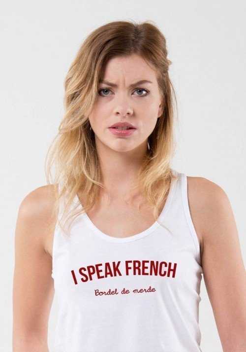 I speak french Débardeur Femme