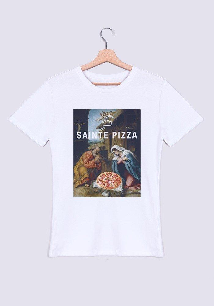 Sainte pizza T-shirt Homme Col Rond