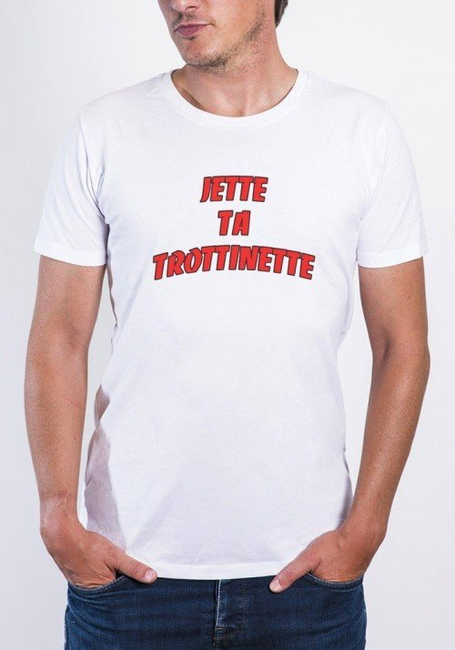 Jette Ta Trottinette T-shirt Homme Col Rond