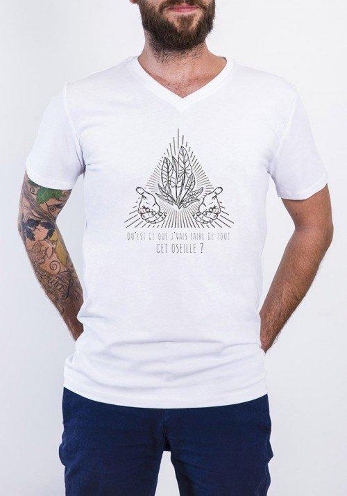 Oseille T-shirt Homme Col V