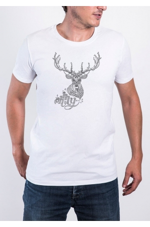 Oh My Deer T-shirt Homme Col Rond
