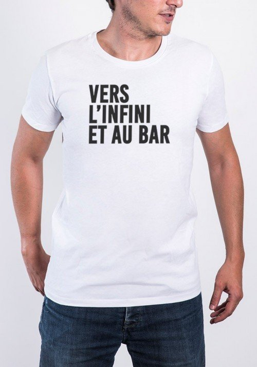 Vers l'infini T-shirt Homme Col Rond