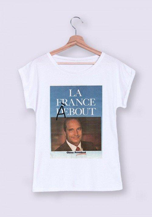 T-shirt Femme Manches retroussées La France à Bout