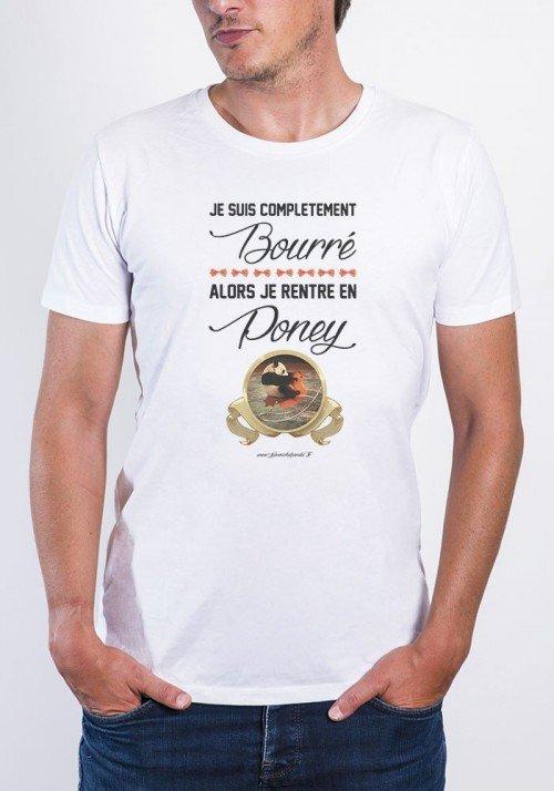 Bourré T-shirt Homme Col Rond