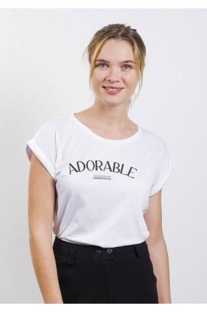 Adorable Emmerdeuse T-shirt Femme Manches Roulées