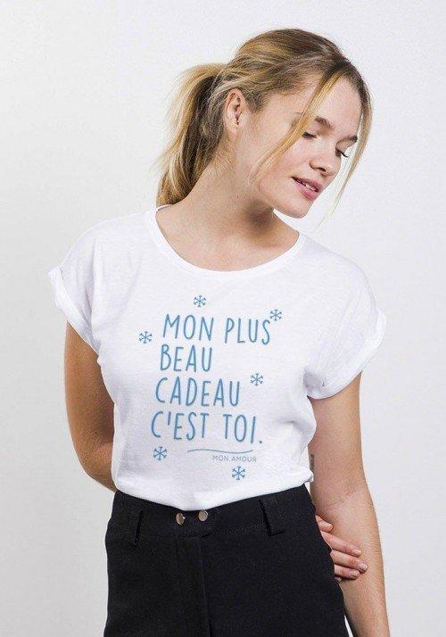 Mon plus beau Cadeau c'est toi T-shirt Femme Manches Retroussées