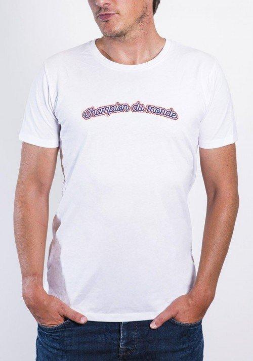 Champion du monde T-shirt Homme Col rond