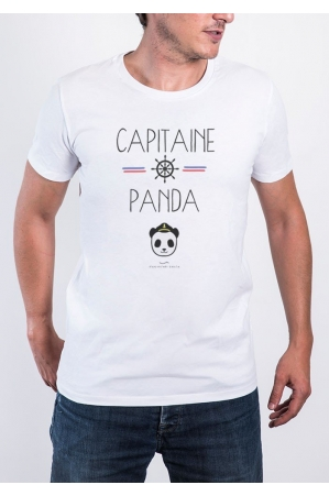 Capitaine Panda T-shirt Homme Col Rond