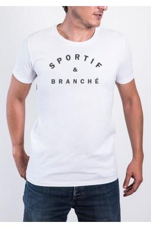 Sportif et Branché T-shirt Homme Col Rond