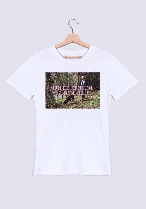J'aime mon chien T-shirt Homme Col rond