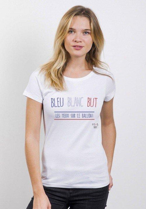 Bleu Blanc But T-shirt Femme Col Rond
