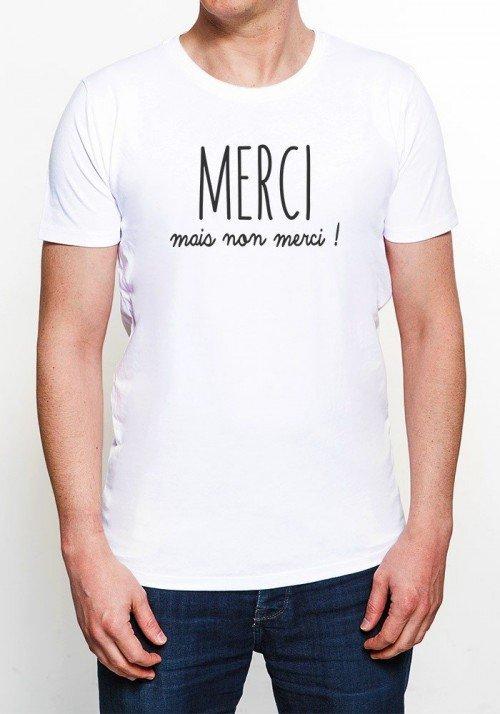 Merci mais nan merci T-shirt Homme Col rond