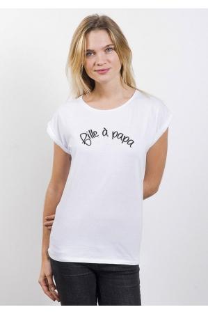 Fille à Papa T-shirt Femme Manches Roulées