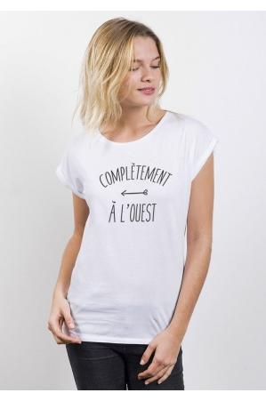 A l'ouest T-shirt Femme Manches retroussées