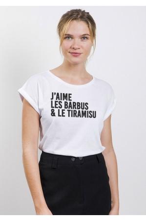 J'aime les barbus T-shirt Femme Manches retroussées