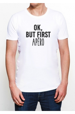 First Apéro T-shirt Homme Col Rond