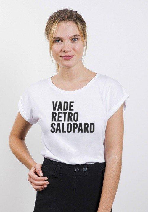 Vade Retro Salopard T-shirt Femme Manches retroussées