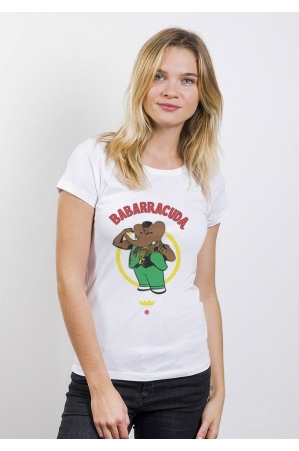 Babarracuda T-shirt Femme Col Rond