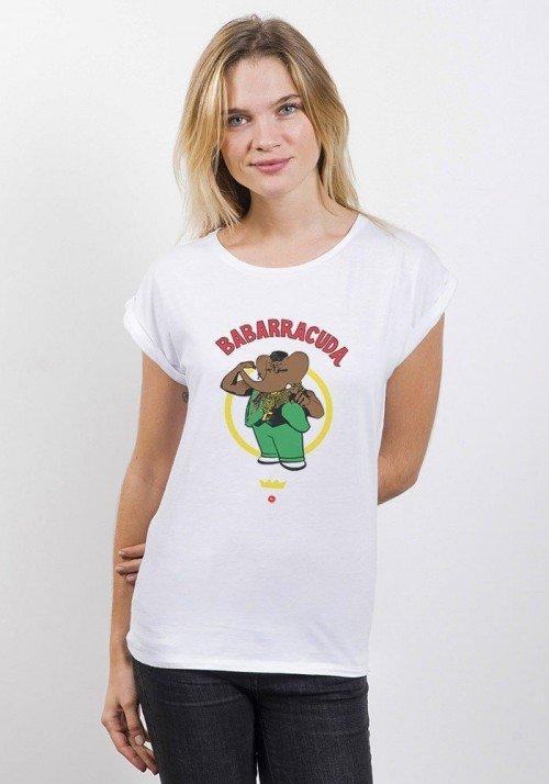 Babarracuda T-shirt Femme Manches Retroussées
