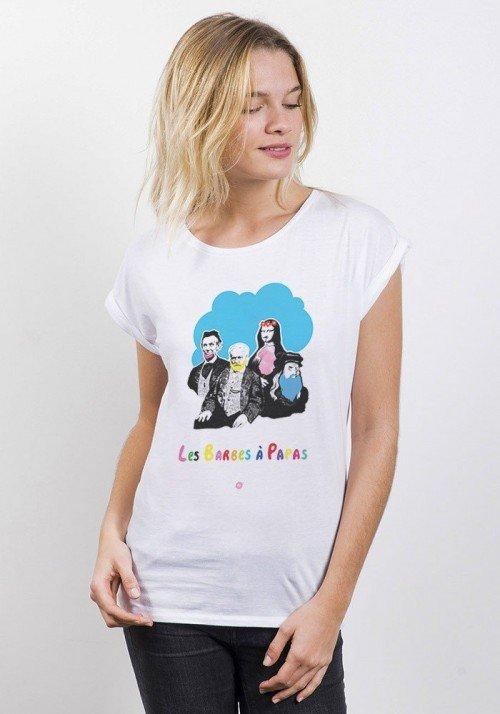 Barbe à Papa T-shirt Femme Manches Retroussées