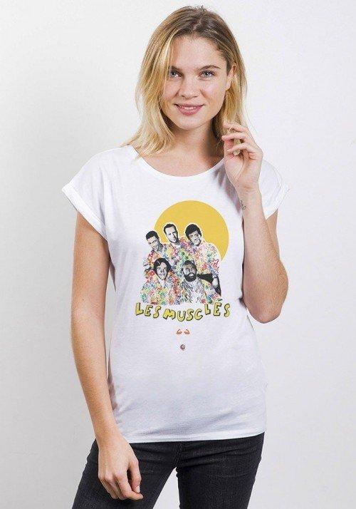 Les Musclés T-shirt Femme Manches Retroussées