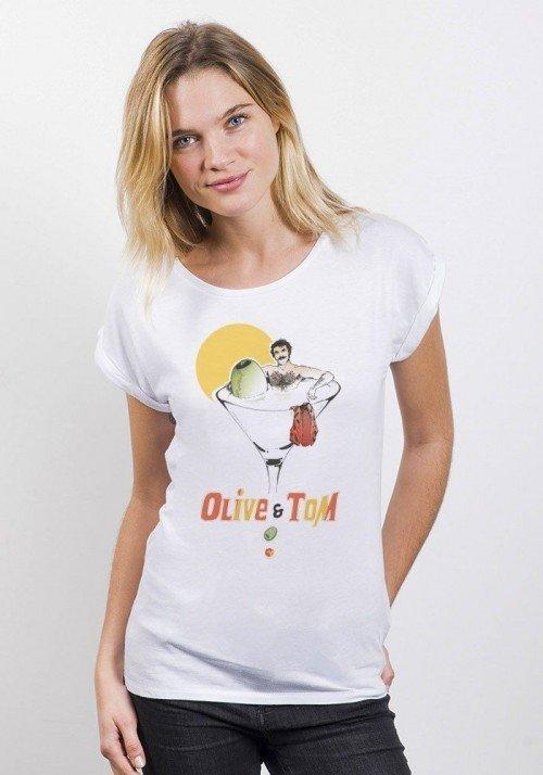 Le Tom T-shirt Femme Manches Retroussées