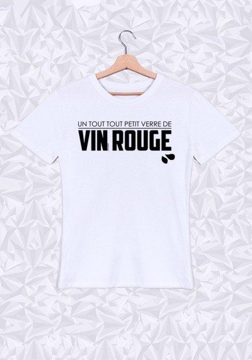 Verre de Rouge  T-shirt Homme Col Rond