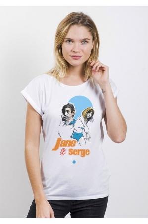 Le Jane et Serge T-shirt Femme Manches Retroussées