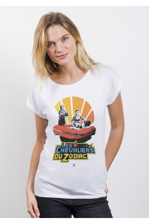 Le Zodiac T-shirt Femme Manches Retroussées
