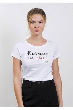 Verre Vide T-shirt Femme Col Rond