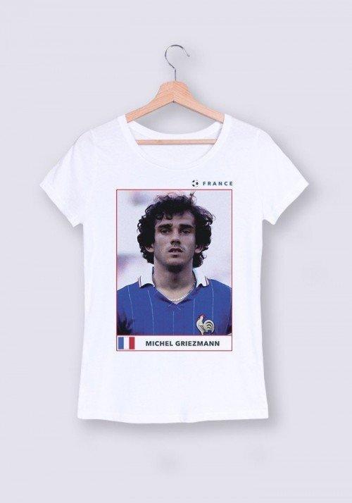 Michel Griezmann T-shirt Femme Col rond