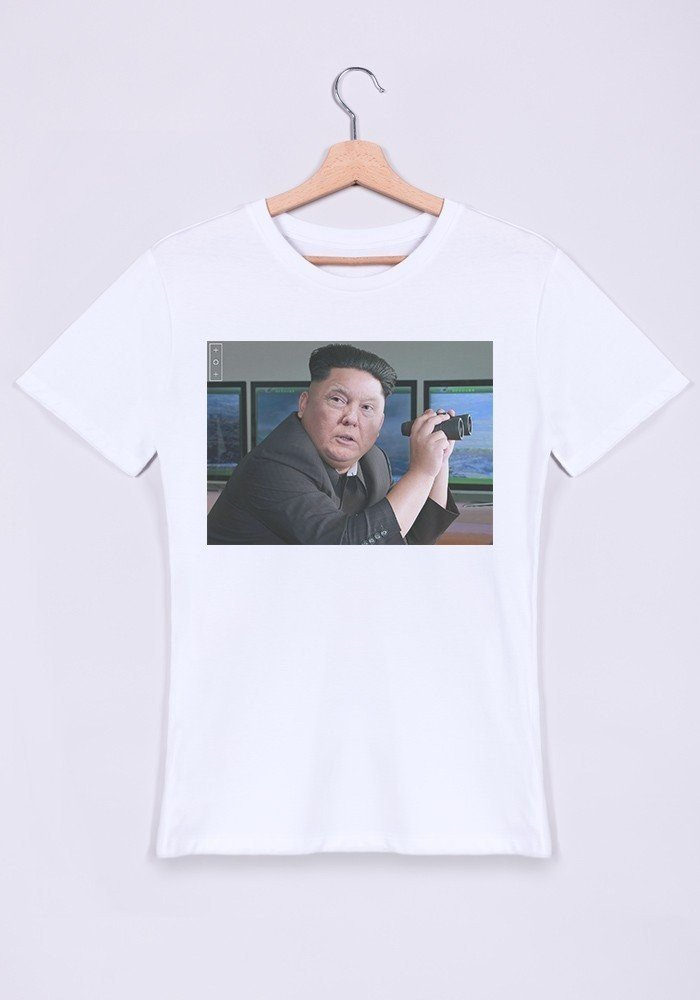 T shirt homme col rond kim jong trump croisons les - Bon de reduction trend corner ...