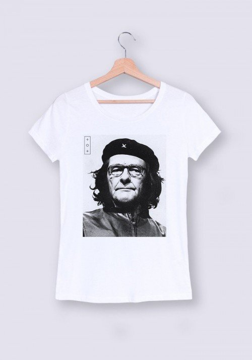 Chirac Che Guevara T-shirt Femme Col rond