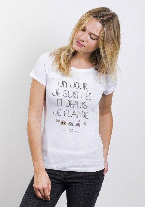 Un Jour Je Suis Née T-Shirt Femme Col Rond