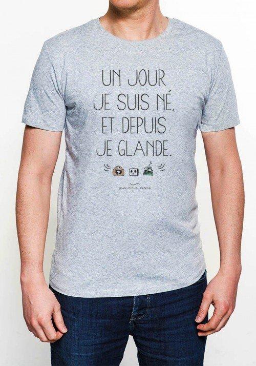 Un Jour Je Suis Né T-shirt Homme Col Rond