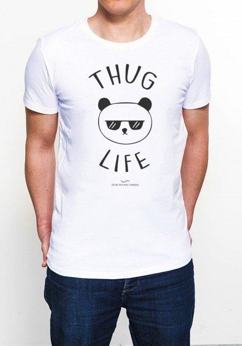 Thug Life Panda T-shirt Homme Col Rond