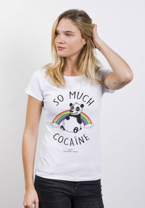 So much cocaine T-shirt Femme Col Rond