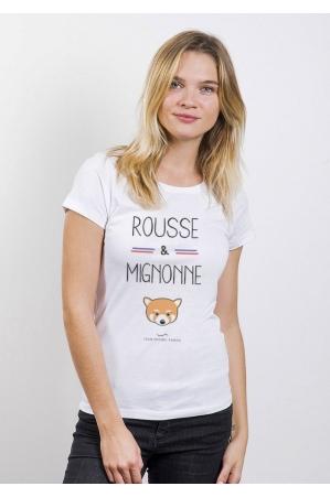 Rousse et Mignonne T-Shirt Femme Col Rond