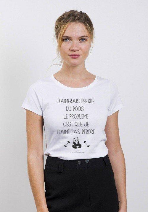 Perdre du poids T-shirt Femme Col Rond
